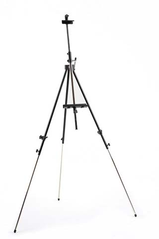Metallic camp easel / black
