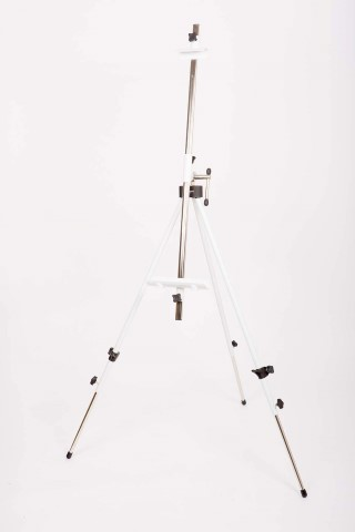 Metallic camp easel / white