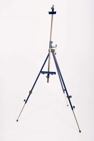 Metallic camp easel / blue