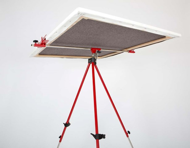 Metallic camp easel / red
