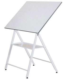 Folding drawing table with tray
